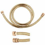 Gold Effect Coated Shower Hose 1.2 Metre - 50600360